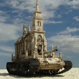 Kris Kuksi - Meticulously Detailed Sculptures of Churches as Tanks