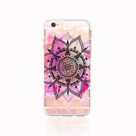 bycsera - Pastel iPhone 6s Case Clear iPhone 6S Plus Case Mandala iPhone Case iPhone 6 Case Mandala