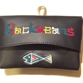 blackmeans - LEATHER TISSUE HOLDER FISH & BMS (bk)