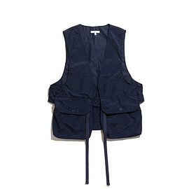 ENGINEERED GARMENTS - Fowl Vest-Acrylic Coated Nylon Taffeta-Navy