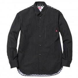 Supreme CDG Shirts - Long Sleeve Shirts (Black)