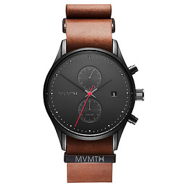 MVMT Watches - Outback - Black/Red/Brown