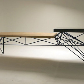 Gore Design Co. - HG CONCRETE + WOOD + STEEL TABLE