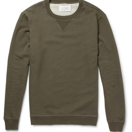 Maison Martin Margiela - Elbow Patch Loopback Cotton-Jersey Sweatshirt