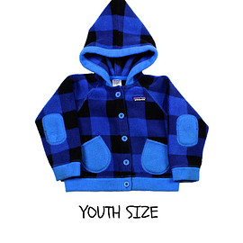 patagonia - Patagonia Blue Hooded Fleece Jacket YOUTH Size 2T