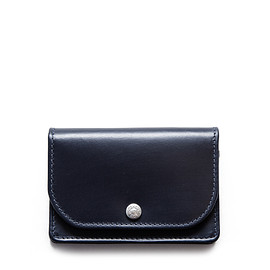 whitehouse cox - NAME CARD CASE / BRIDLE (NAVY)