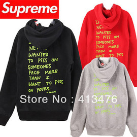 Supreme - piss on face hoodie
