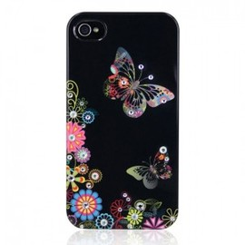 hallomall - Rhinestone Summer Butterfly Design Iphone 4/4S Case