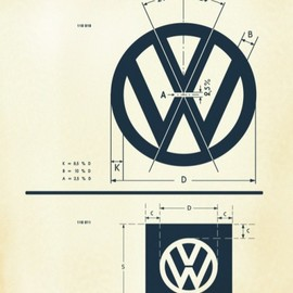 Volkswagen - Vintage VW Logo Specification Poster For Download