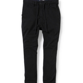 nonnative - DWELLER EASY RIB PANTS - C/P CHINO STRETCH