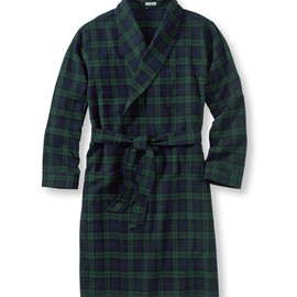 L.L.Bean - Scotch Plaid Flannel Robe, Lined