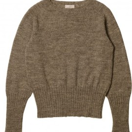 MARGARET HOWELL - SHORT CREW NECK SWEATER