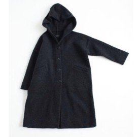 evam eva - press wool hooded coat
