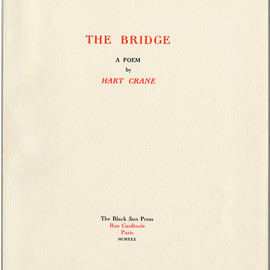 Hart Crane, Walker Evance - THE BRIDGE, Special Wrapping Edition
