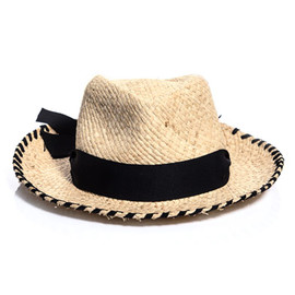 Lanvin - Straw hat with grosgrain ribbon