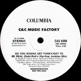 C & C Music Factory - Do You Wanna Get Funky Promo 12inch