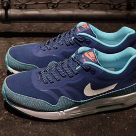Nike - Nike Air Max 1 PRM Tape   Brave Blue/Summit White/Black