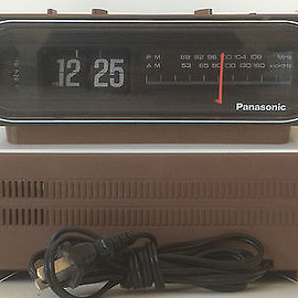 Panasonic - Panasonic RC-6015 AM/FM Flip Clock Radio