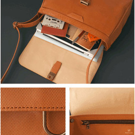POSTALCO - Mail Bag Small / Cross Grain Leather