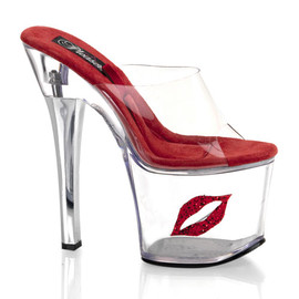 "Pleaser - ""Tip jar"" Platform Slide With Lip"