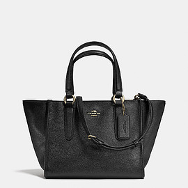 COACH - CROSBY MINI CARRYALL IN CROSSGRAIN LEATHER