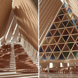 shigeru ban 坂茂 - cardboard cathedral in NZ christchurch 2012