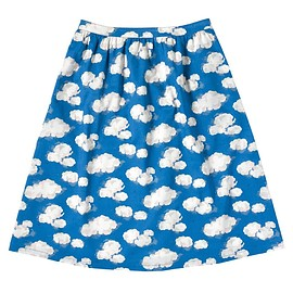 Cath Kidston - SS15 cloud print skirt in cotton