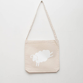 cup and cone - Canvas Shoulder Bag - Natural x White