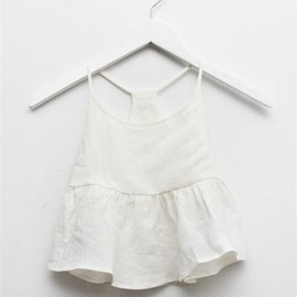 Creatures of Comfort - Lil Nella Top- White Linen