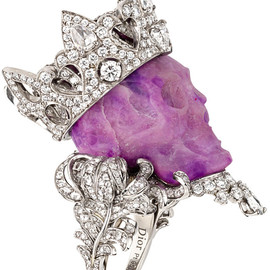 Christian Dior - Diamond Purple Skull Ring