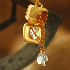 Alex Monroe - picnic hamper locket necklace