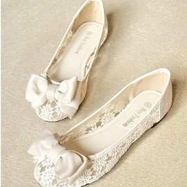 lace Flat Shoes sandals Round head pointed shoes