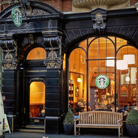 Leicester Square, London England - Starbucks