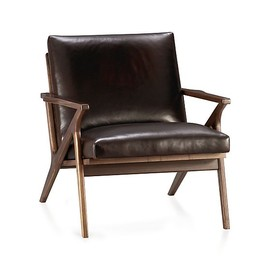 Crate & Barrel - Cavett Leather Chair