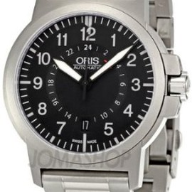 Oris - Oris BC3 Air Racing Black Dial Stainless Steel Case GMT Mens Wtach 668-7647-7184SET