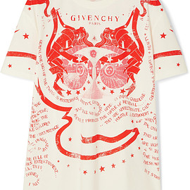 Givenchy - Gemini printed cotton-jersey T-shirt