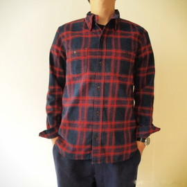 DAILY WARDROBE INDUSTRY - 1st STANDARD SHIRT (OPEN) (PULL) /RED CHECK, BLUE CHECK