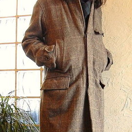 Engineered Garments - CHESTER FIELD COAT HB TWEED BROWN