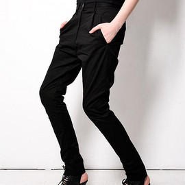 Acne - black sensational slouch tapered pants