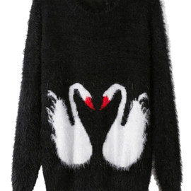 Double Swans Knitted Jumper