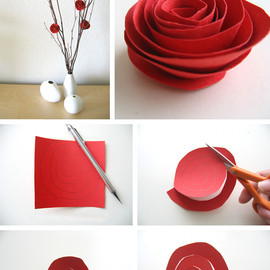. - Paper flower tutorial