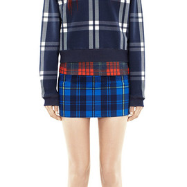 Acne - CAPSULE COLLECTION / CHECK SWEATER, SKIRT, CAP, DENIM JACKET