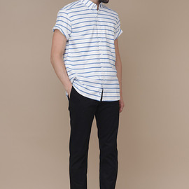 Saturdays Surf NYC - Saturdays Surf NYC Esquina Oxford Stripe (Blue )