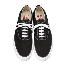 WAKOUWA - DECK SHOES CANVAS BLACK/ WHITE