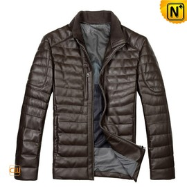 CWMALLS - Down Padded Leather Jacket CW804283