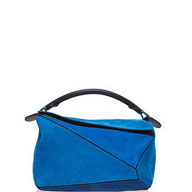 LOEWE - FW2015 Small Puzzle Bag In Turquoise Suede