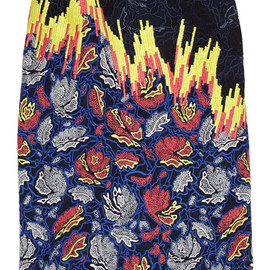 PETER PILOTTO - Vector embroidered organza and silk-satin skirt