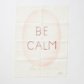 Louise Bourgeois - BE CALM,2995 100% LINEN TEA -Towel