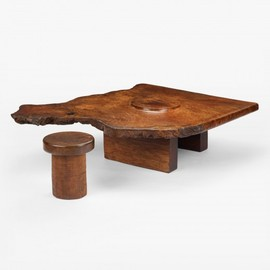 J. B. BLUNK - coffee table and stool