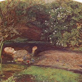 John Everett Millais - Ophelia. Painting by John Everett Millais, 1852.